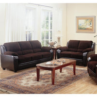 SPRING SALE - CHOCOLATE Stationary Loveseat and Sofa  And Chair- C502811