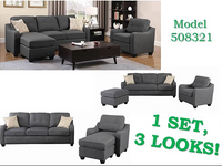 TROPICAL SOFA SET  3 IN 1 CONVERTIBLE SOFA CHAIR SECTIONAL IN ONE - 508321TR
