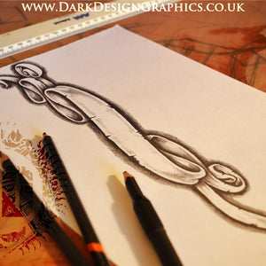 Hand-drawn Banner Tattoo Download (half price with any other download)