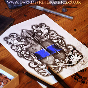 Police Tattoo Design - Coat of Arms