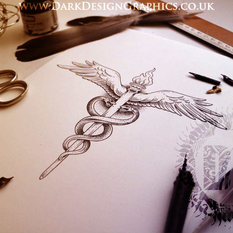 The Caduceus Symbol Tattoo Download