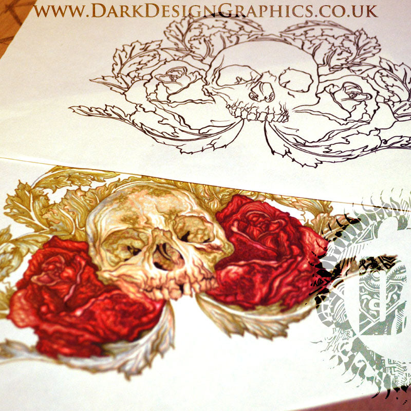 Skull & Roses Tattoo Download