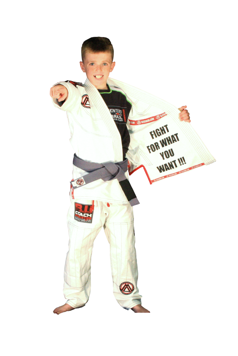 "White ""Official Competition & Training"" Kids Uniform"