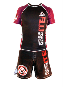 "Purple/Black Official Assoc ""Short Sleeve"" Rash Guard"