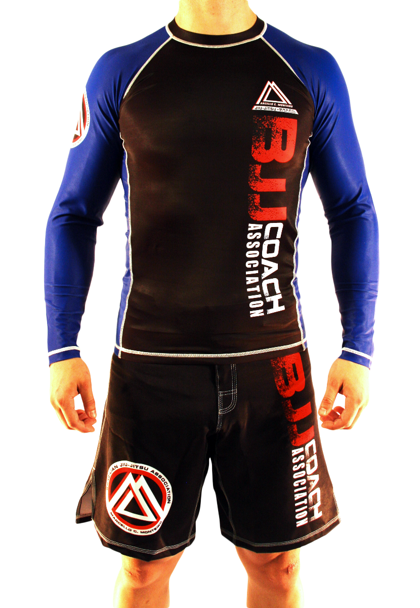 "Blue/Black Official Assoc ""Long Sleeve"" Rash Guard"