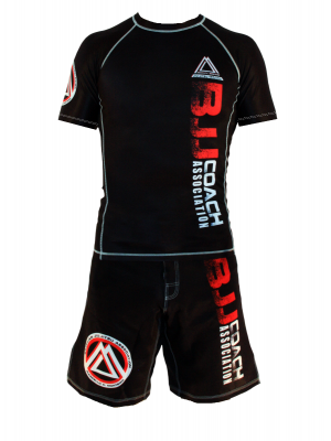 "Black Official Assoc ""Short Sleeve"" Rash Guard"