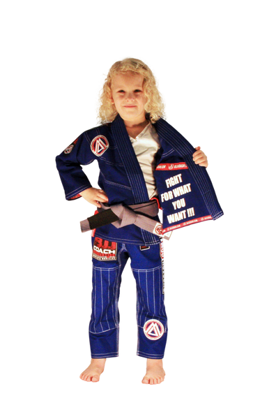 "Blue ""Official Competition & Training"" Kids Uniform"
