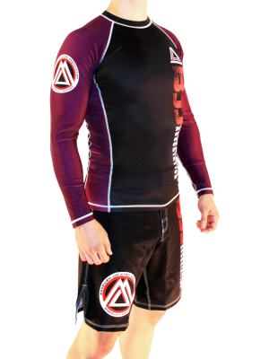 "Purple/Black Official Assoc ""Long Sleeve"" Rash Guard"