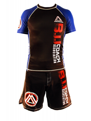 "Blue/Black Official Assoc ""Short Sleeve"" Rash Guard"