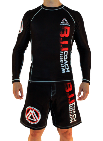 "Black Official Assoc ""Long Sleeve"" Rash Guard"