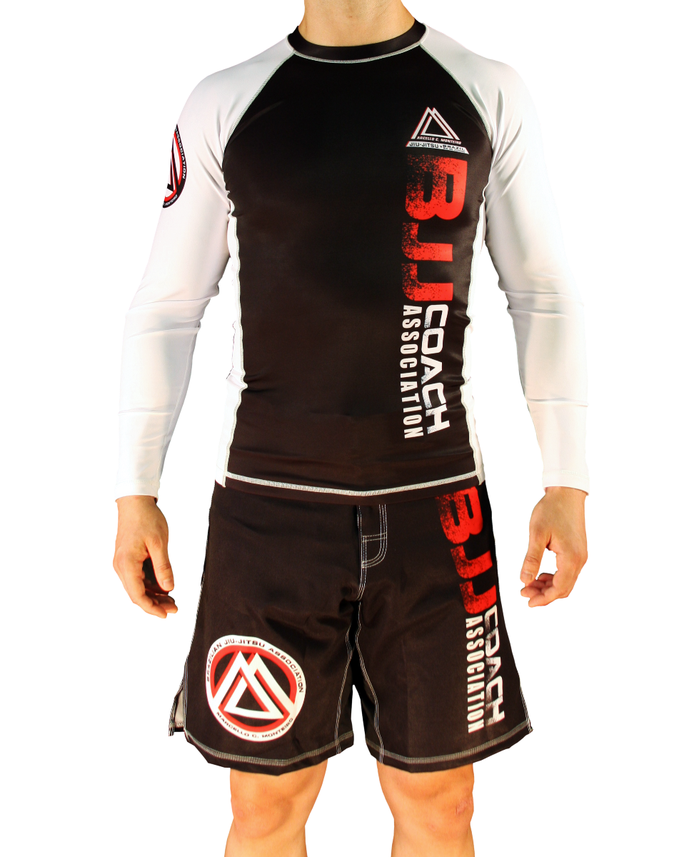 "White/Black Official Assoc ""Long Sleeve"" Rash Guard"