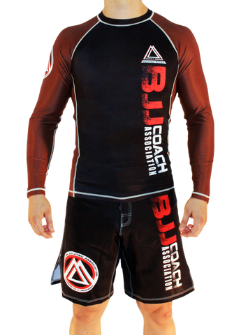 "Brown/Black Official Assoc ""Long Sleeve"" Rash Guard"