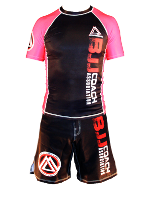 "Pink/Black Official Assoc ""Short Sleeve"" Rash Guard"