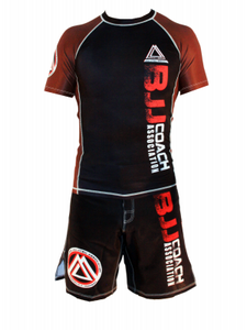 "Brown/Black Official Assoc ""Short Sleeve"" Rash Guard"