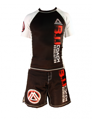 "White/Black Official Assoc ""Short Sleeve"" Rash Guard"