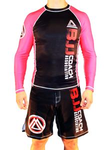 "Pink/Black Official Assoc ""Long Sleeve"" Rash Guard"