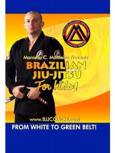 "BJJ Curriculum for Kids ""Digital DVD"" (White Belt to Green Belt 4-Disc Set)"