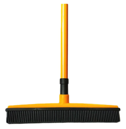 Broom with Squeegee and Multi-Surface and Pet Hair Removal