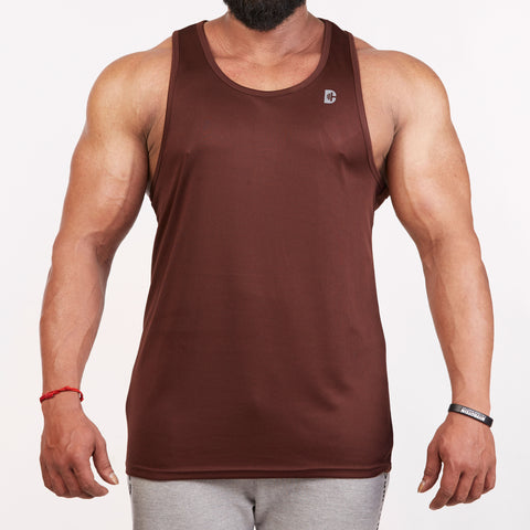 DB105 Tank Top Brown