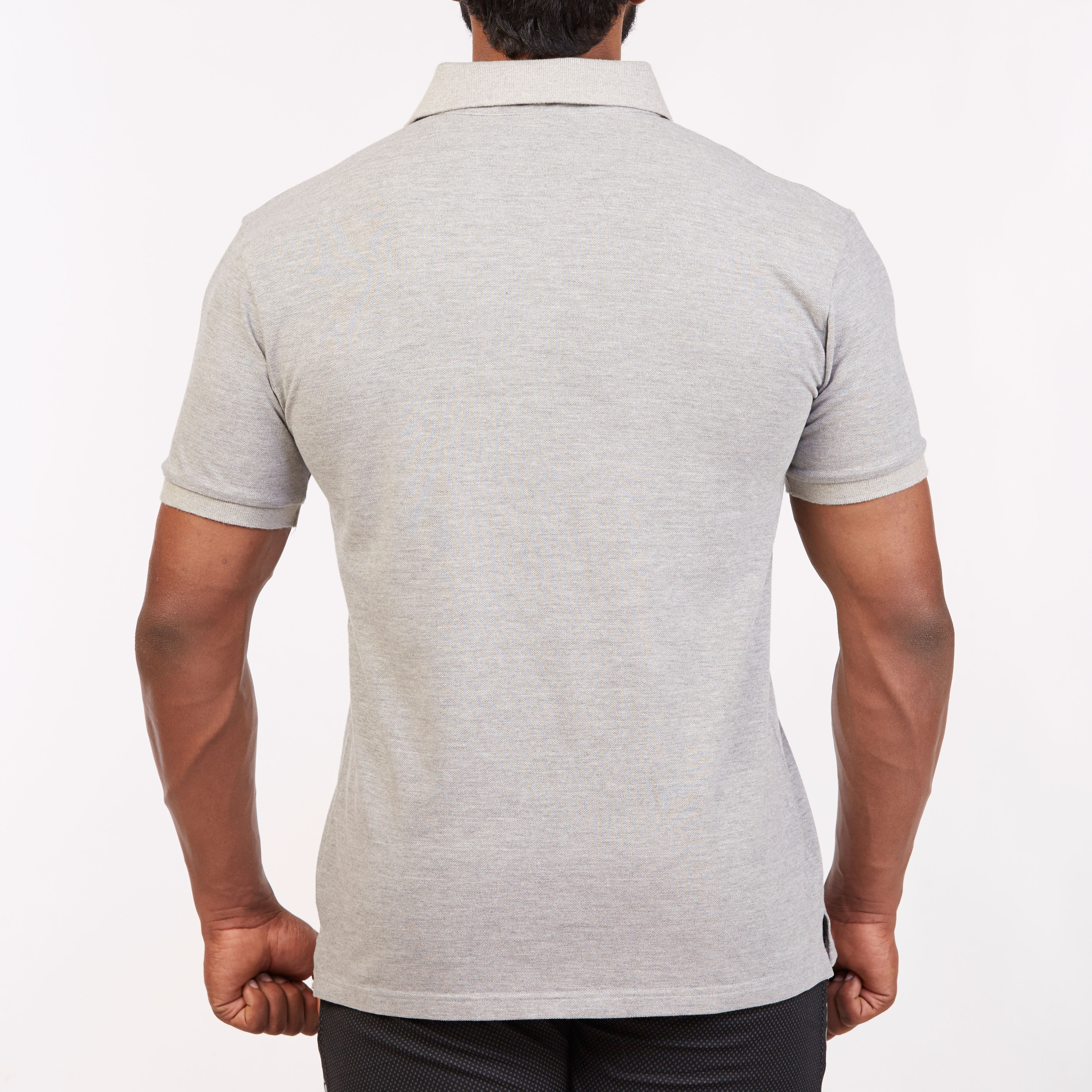DB024 Polo T-Shirt - Grey Melange