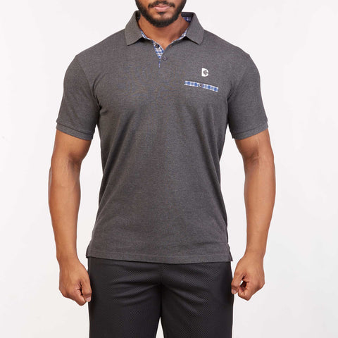 DB024 Polo T-Shirt - Charcoal Melange