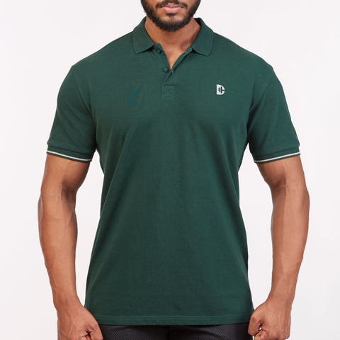 DB032 Polo Tee Shirts - BOTTLE GREEN