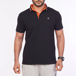 DB067 Polo Tee Shirt - Black