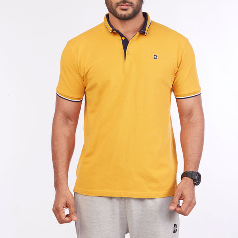 DB067 Polo Tee Shirt - Mustard