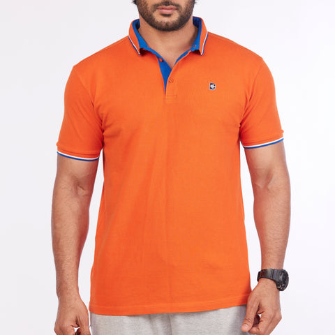 DB067 Polo Tee Shirt - Orange