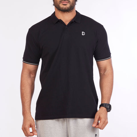 DB032 Polo Tee Shirts - Black
