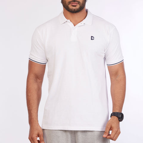 DB032 Polo Tee Shirts - White