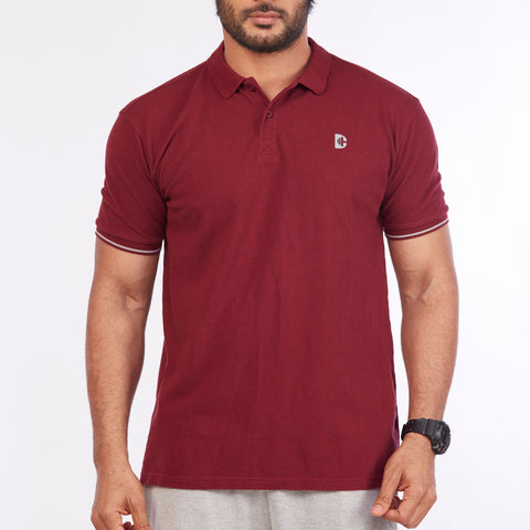 DB032 Polo Tee Shirts - Burgundy