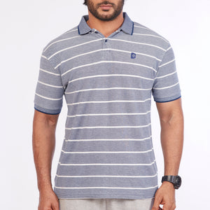 DB013 Collar T-Shirt - Blue
