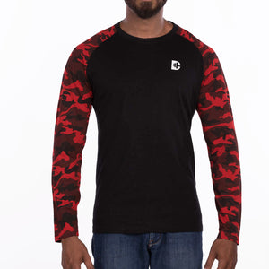 DB103A Camou T-Shirt Loop Knit - Red