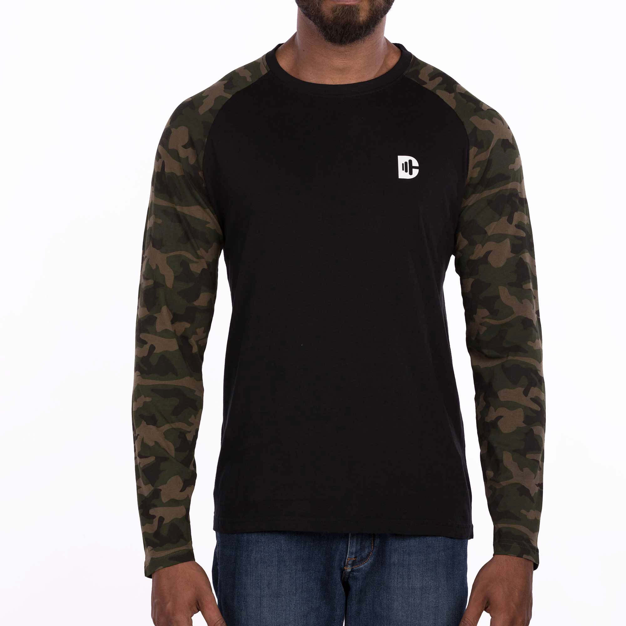 DB103A Camou T-Shirt Loop Knit - Military Green
