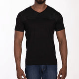 DB025 T-Shirt V-Neck - Charcoal Melange