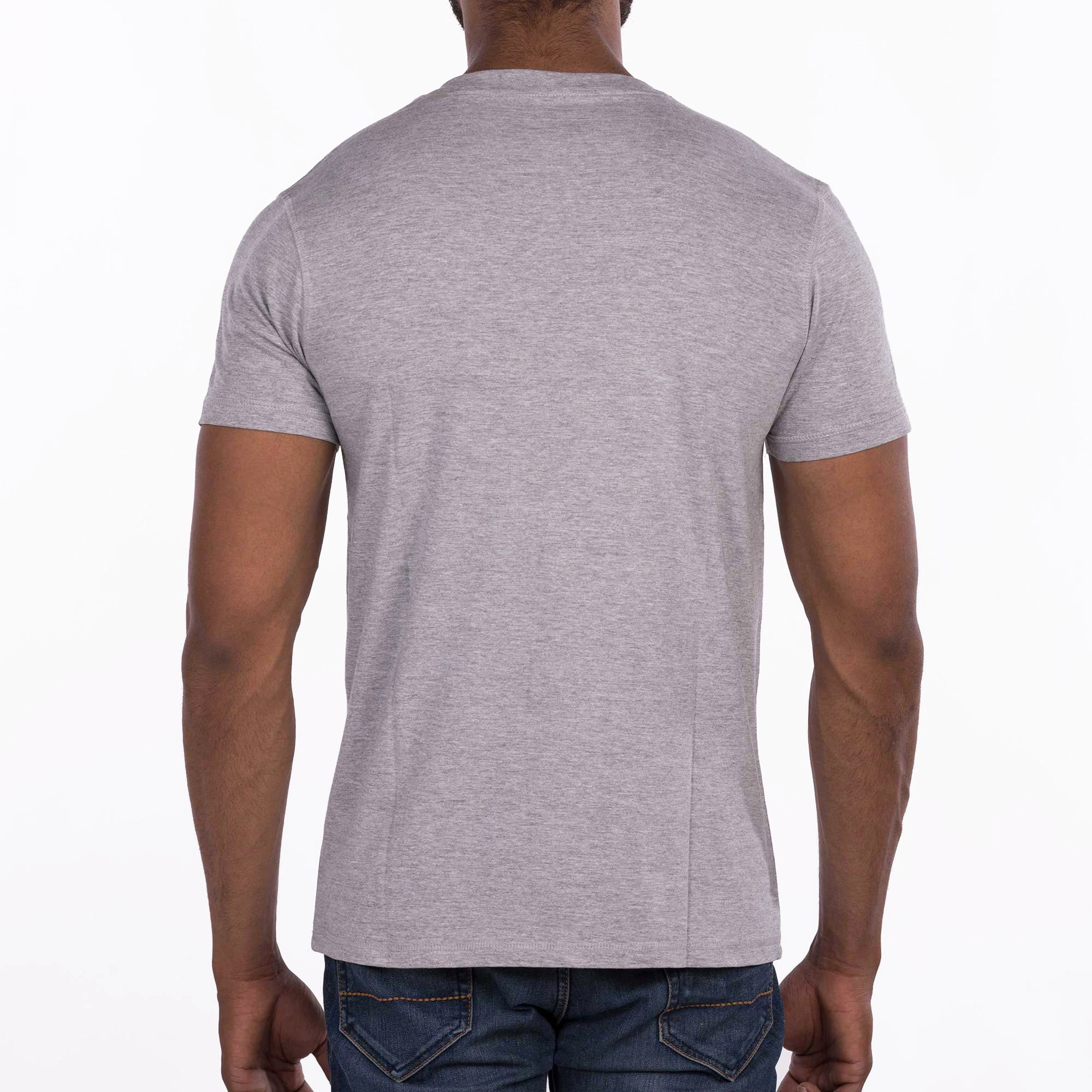 DB025 T-Shirt V-Neck - Grey Melange