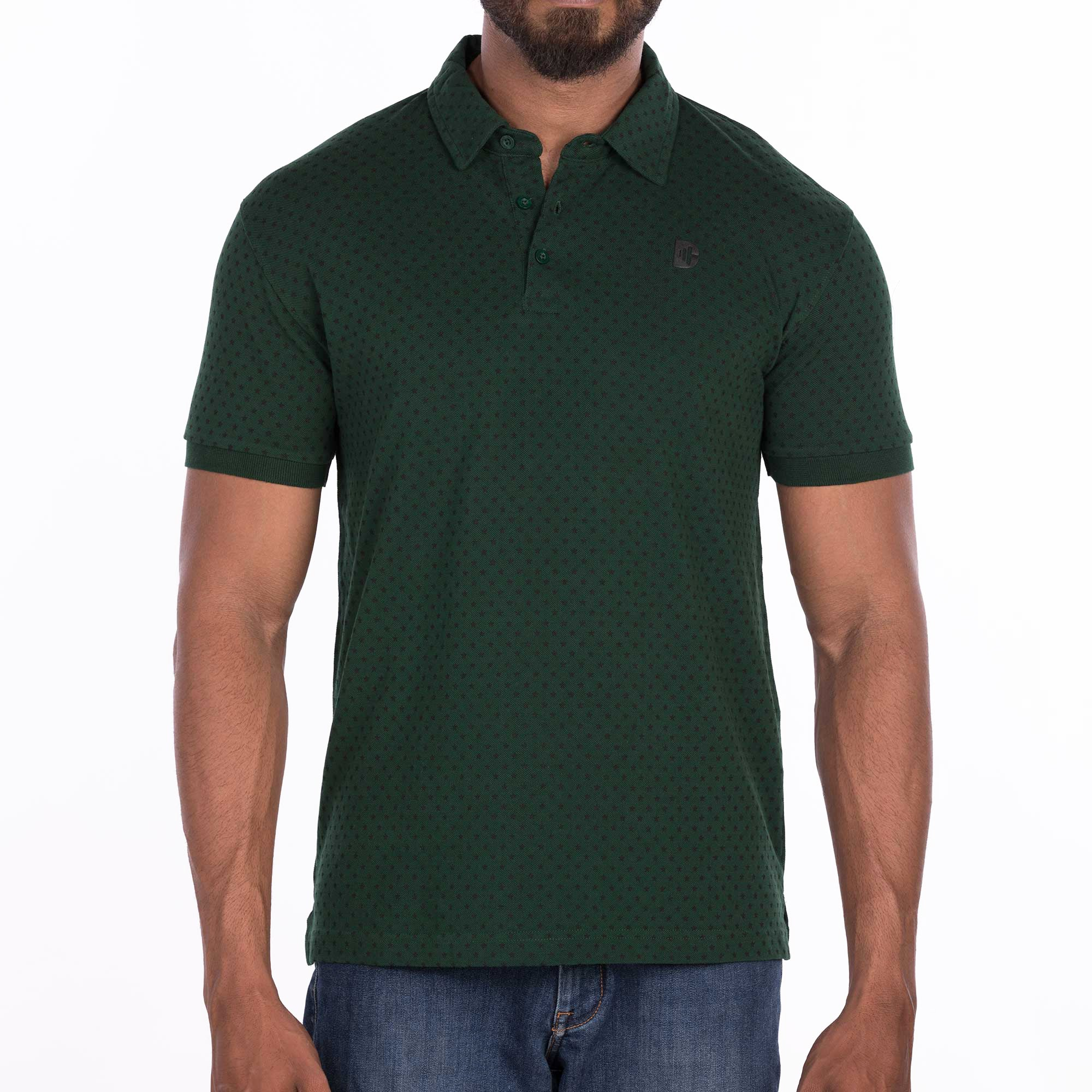 DB058 Polo Tee Shirt- Bottle Green