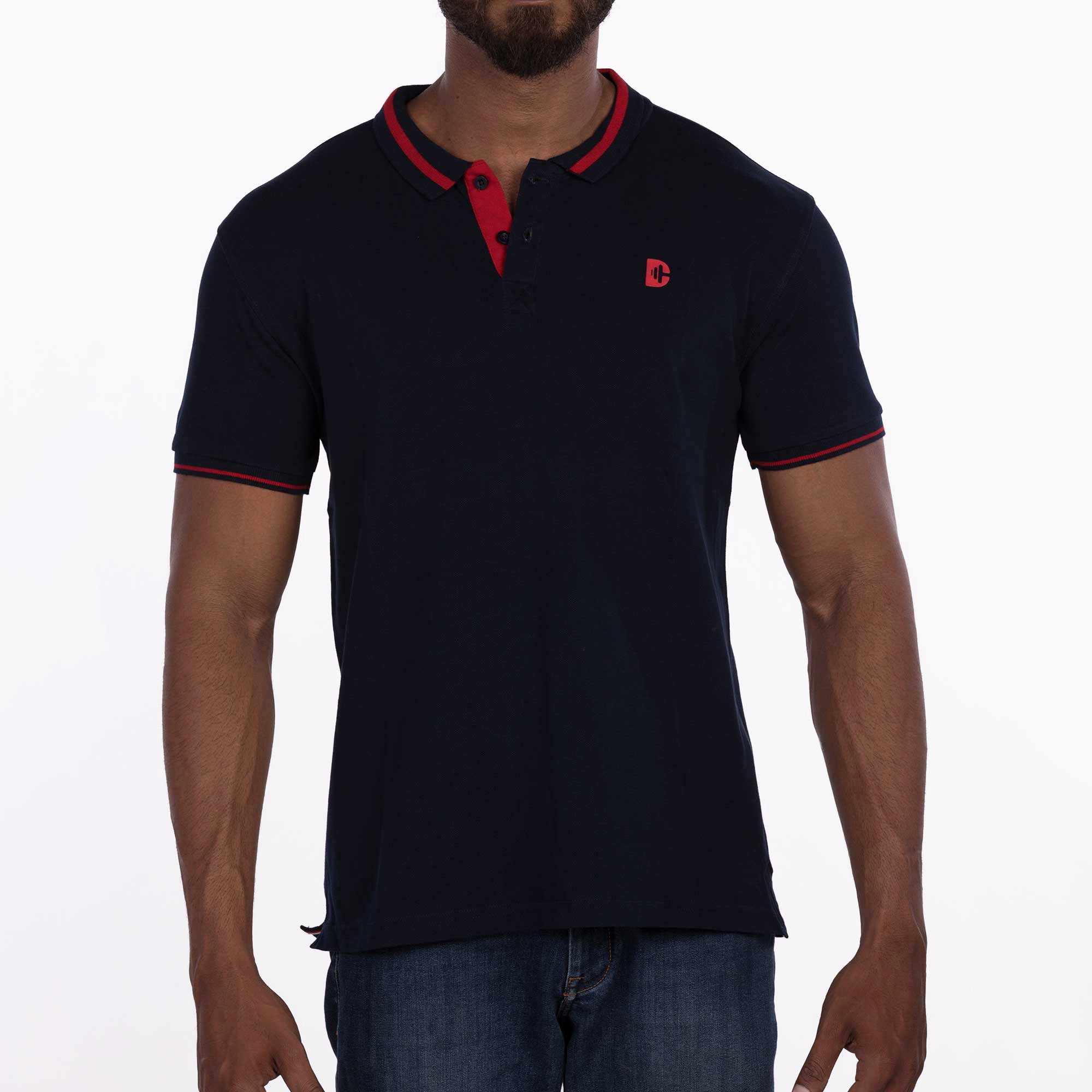 DB070 Polo Tees - Navy