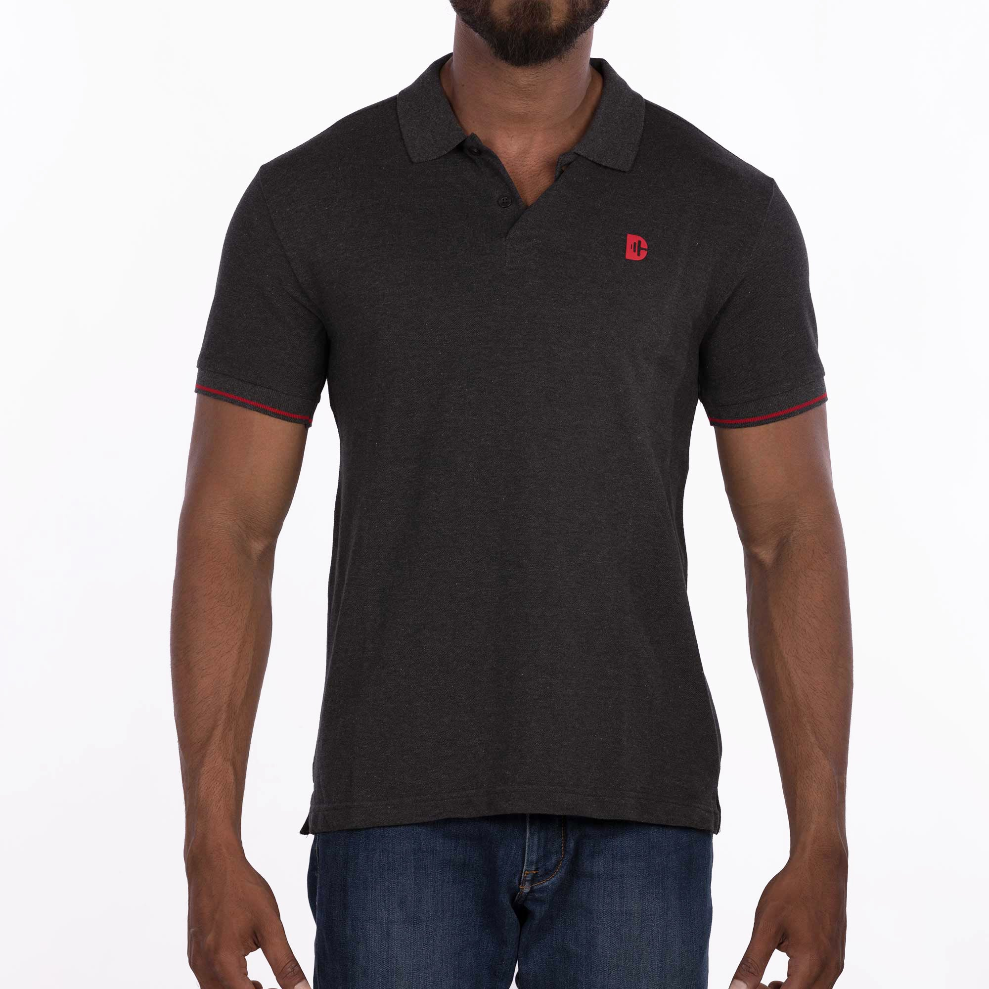 DB032 Polo - Charcoal Melange