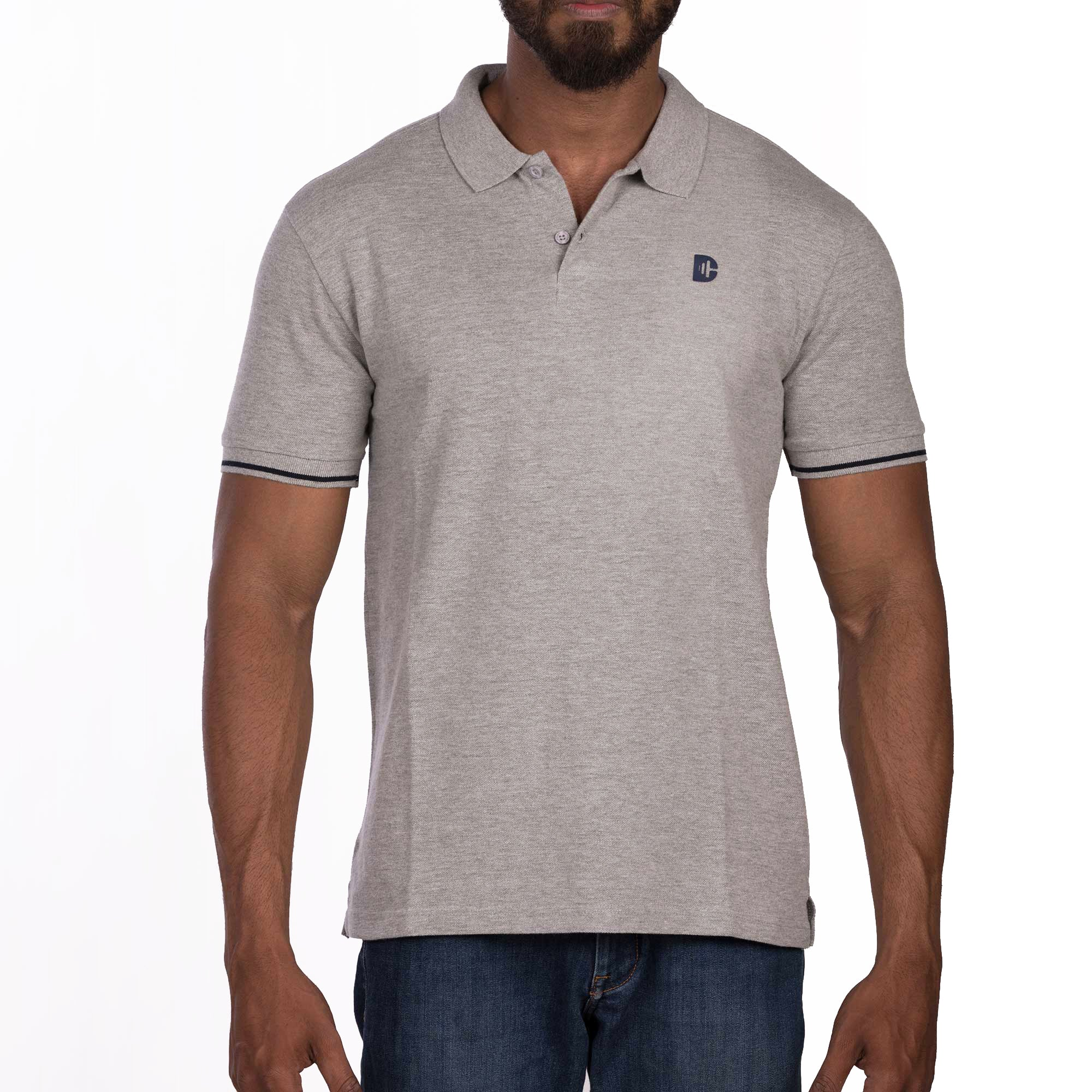 DB032 Polo - Grey Melange