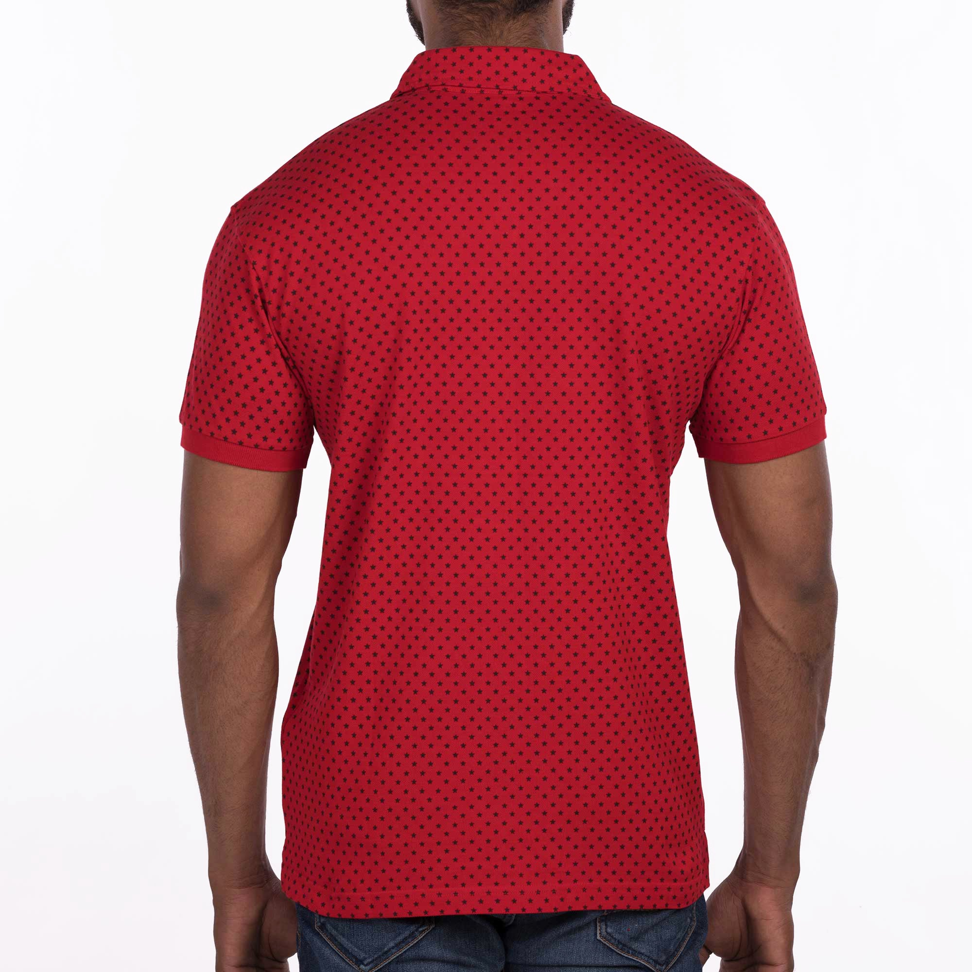 DB058 Polo Tee Shirt - Red