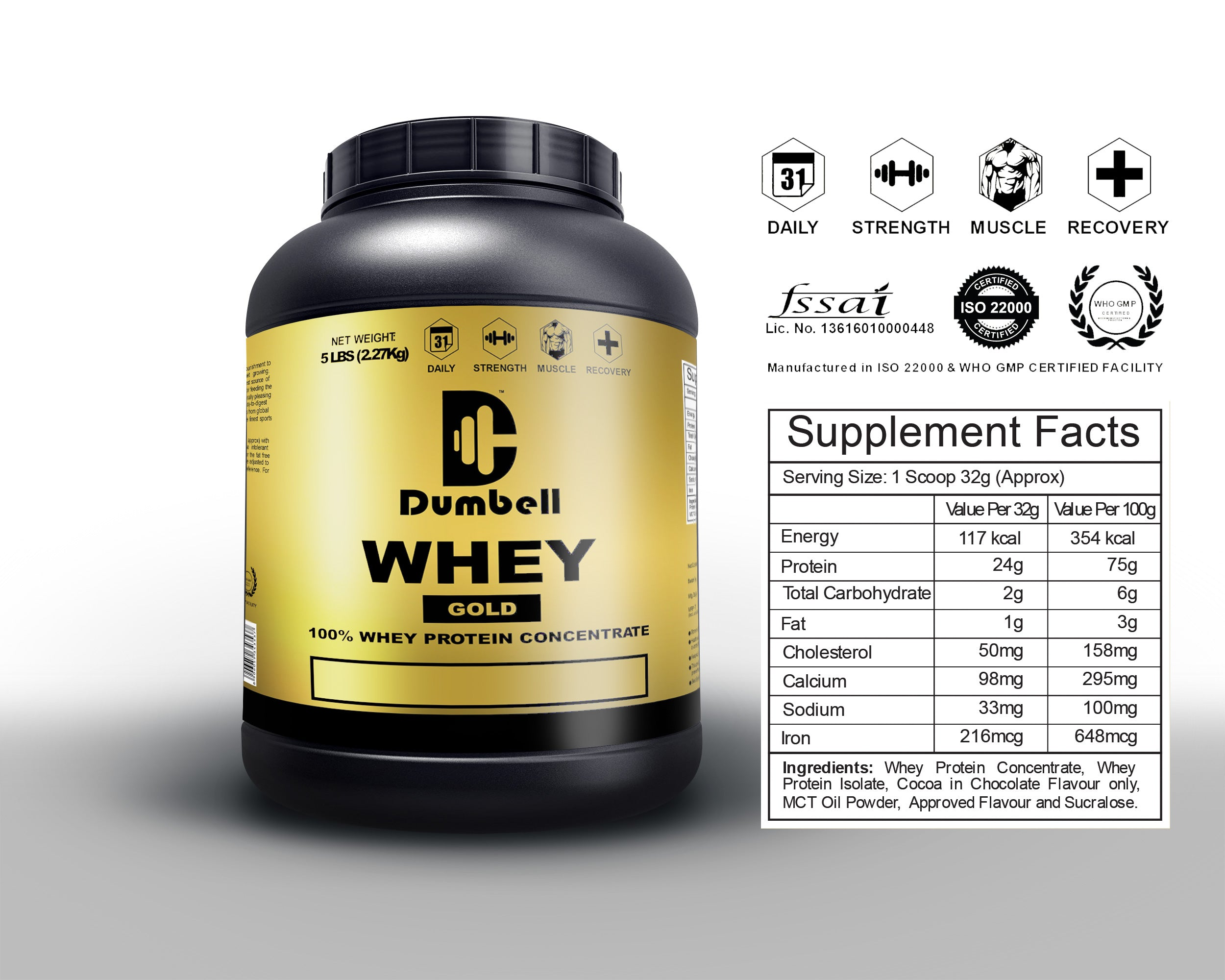WHEY GOLD - 100% WHEY PROTEIN CONCENTRATE