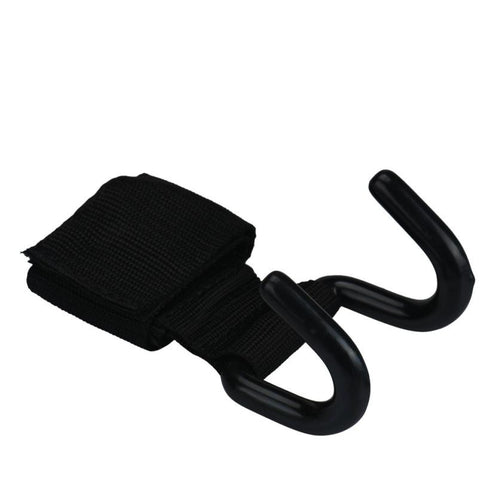 2pc Support Straps Anti-skid Grip with Coated Steel Hook
