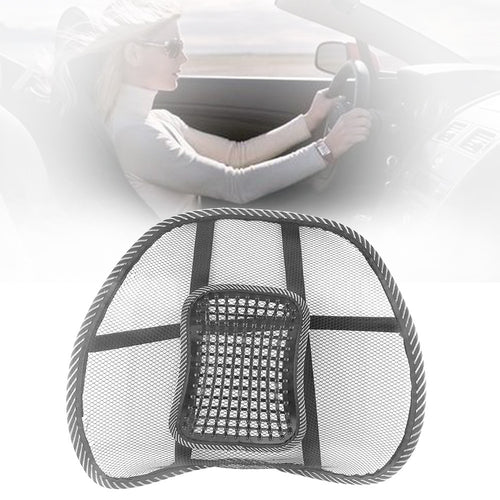 Mesh Back Brace Lumbar Cushion Support with Massage for Office Home Car Seat Chair Ventilate Pad