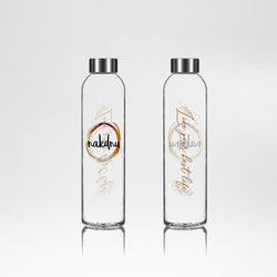 Nakdnu 'Live your best life' Glass Bottle - Colour