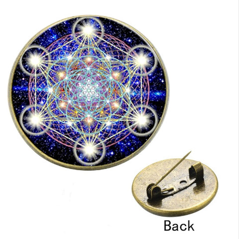 Sacred Geometry Brooches