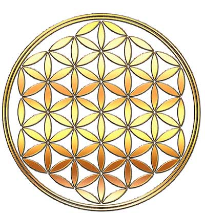 Flower of Life design from SacredGeometrical.com