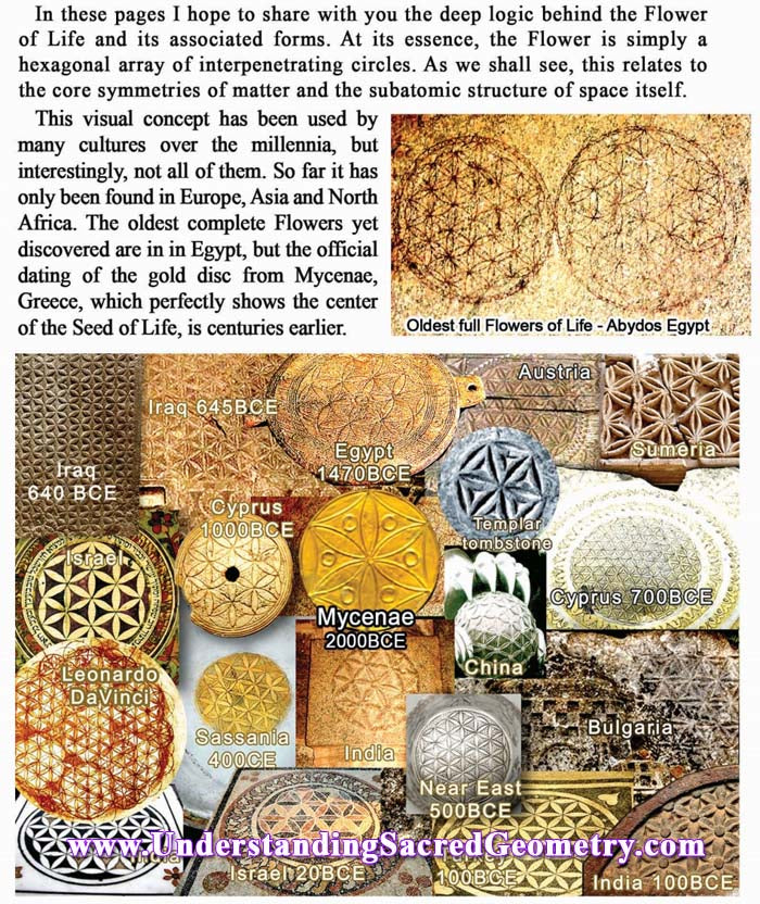 FLower of Life ancient design found all over Europe and the Middle East