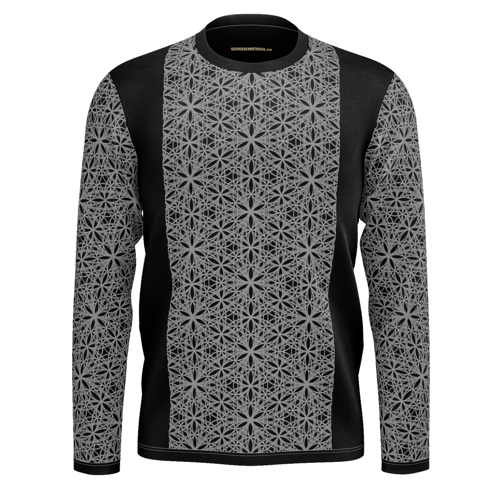 Flower of Life Fractal Shades - Mans LS Tshirt
